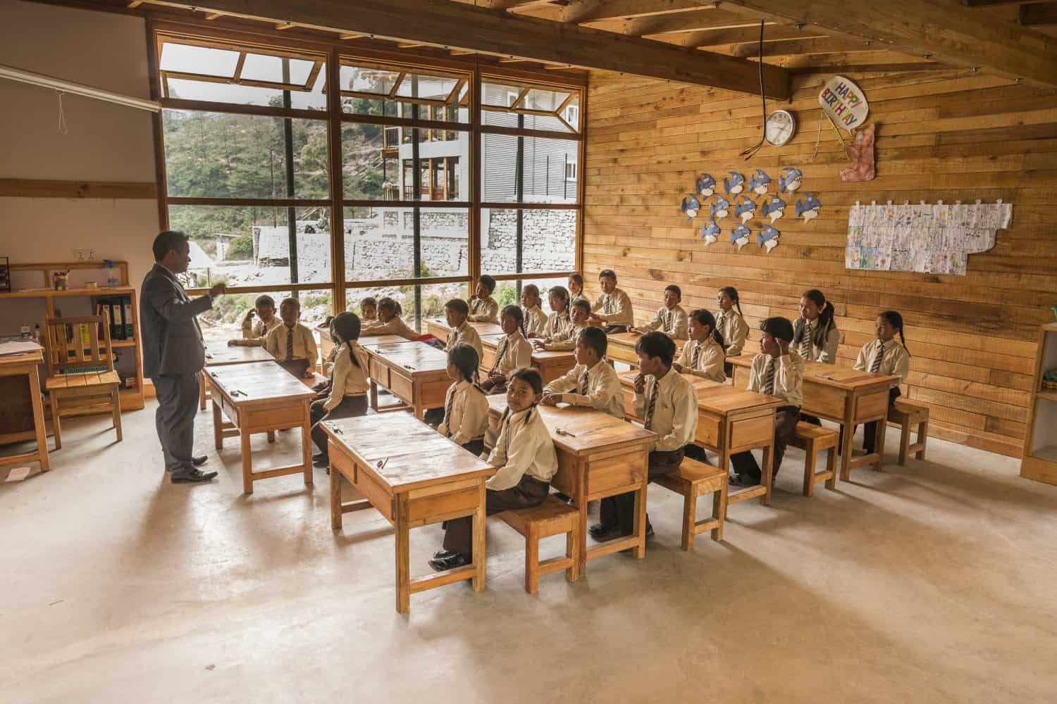 Education, classroom setting in Yangri